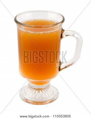 Apple Cider In A Glass Mug