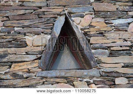 Triangular Shaped Slate Window