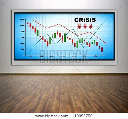 Plasma Tv With Crisis Chart