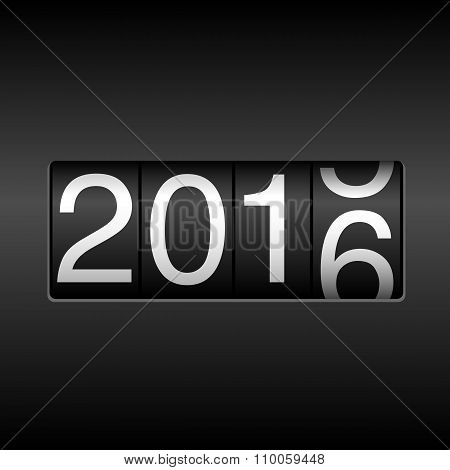 2016 New Year Odometer with Rolling Number