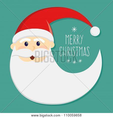 Round Santa Claus Face Christmas Greetings
