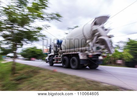 Truck Concrete Mixer, Panning Camera