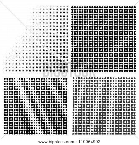 Set of  Halftone Patterns.