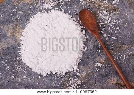Cassava (tapioca) On Gray Background