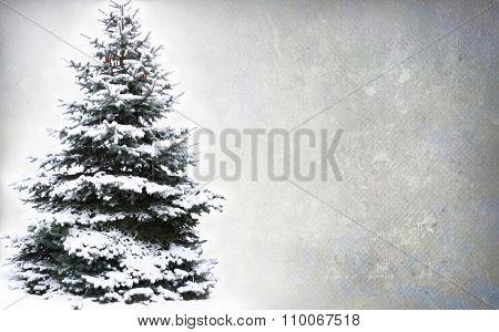Christmas Tree - Isolated over grunge background
