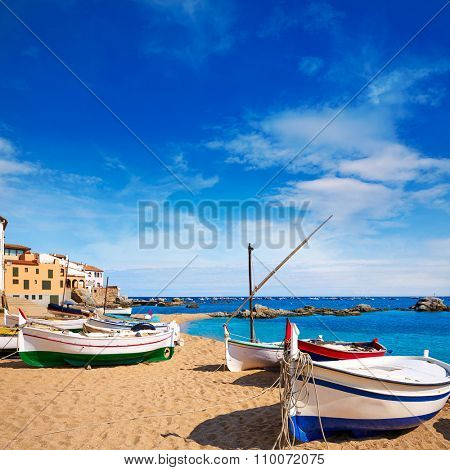 Calella de Parafrugell beach in Costa Brava of Girona at Catalonia Spain