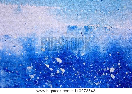 Blue Watercolor with snow background 13