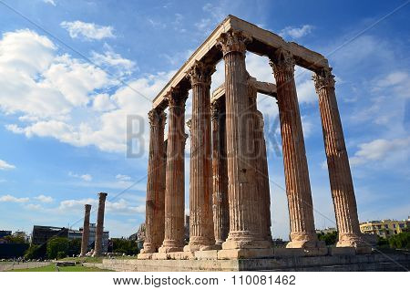 Ruins Of Temple Of Zeus In Athens Greece Summer Photography