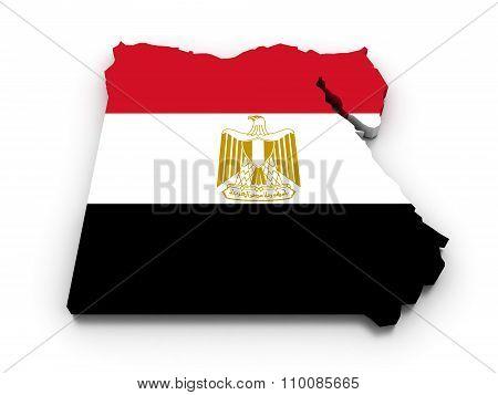 Egypt Flag Map