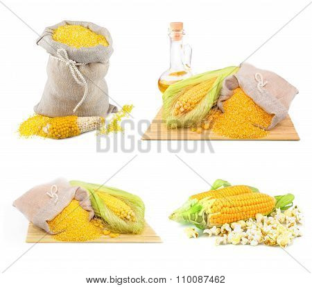 Composition From Corn, Oil And Maize Flour, Set
