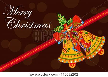 illustration of Jingle Bell on Christmas holiday background