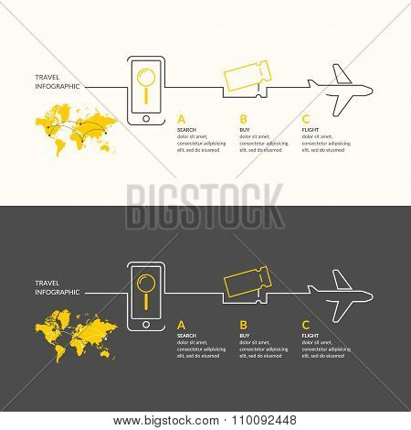 Travel Infographics. Buy Air Tickets.