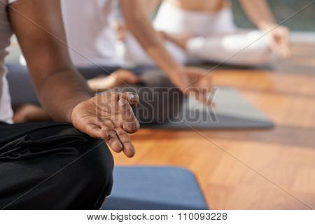 Meditation and yoga concept