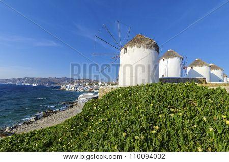 Mykonos Windmills, Chora, Greece