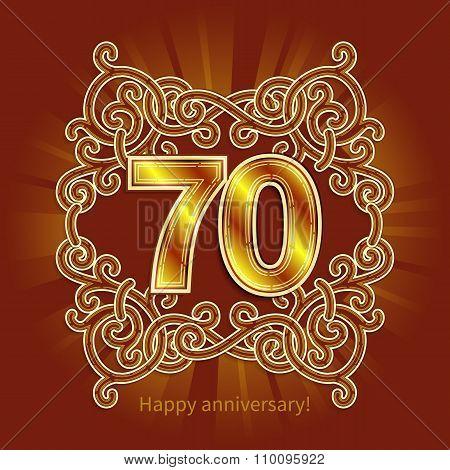 card 70th Happy Anniversary