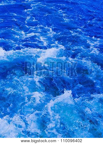 Powerful Stream Of Clean Blue Water