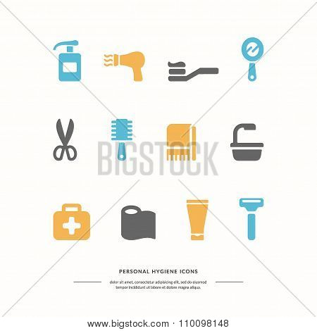Personal Hygiene Icons.