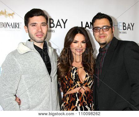 LOS ANGELES - NOV 30:  Kristos Andrews, Lilly Melgar, Gregori J. Martin at the Screening Of LANY Entertainment's