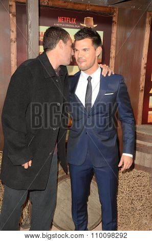 LOS ANGELES - NOV 30:  Adam Sandler, Taylor Lautner at the
