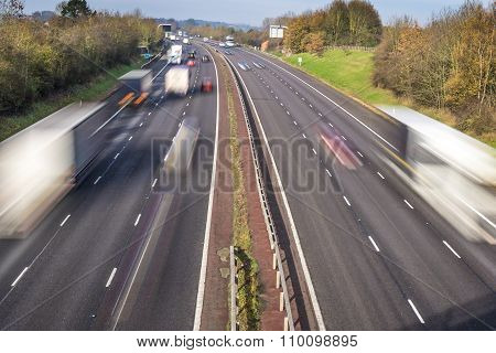 Motion Blurred Motorway Traffic
