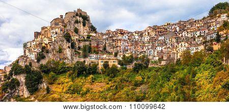 beautiful medieval village Cervara di Roma. Lazio, Italy