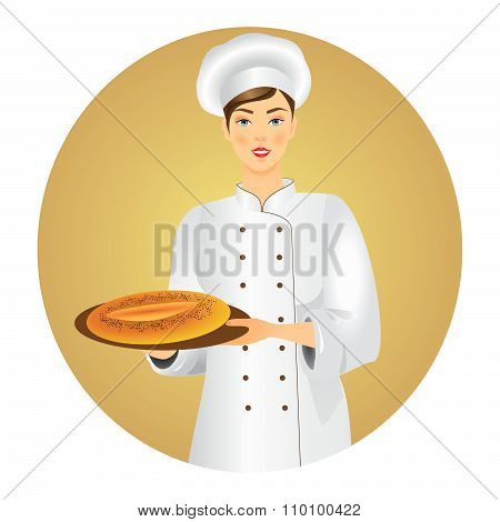 Young Female Baker