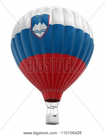 Hot Air Balloon with Slovene Flag (clipping path included)