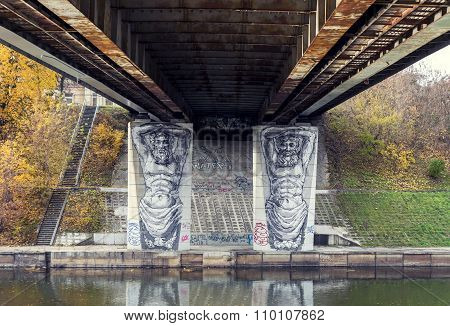 Graffiti Under A Bridge In Vilnius
