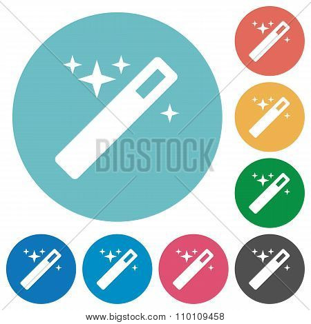 Flat Magic Wand Icons