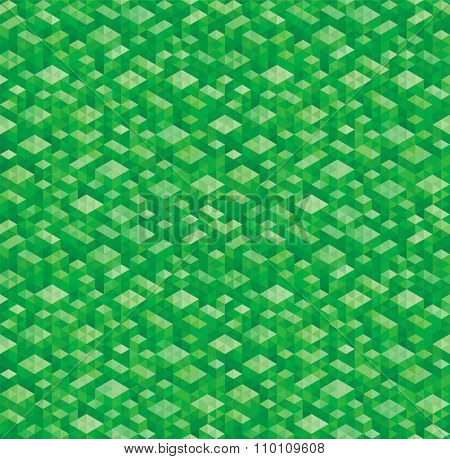 Abstract geometric green texture seamless background.
