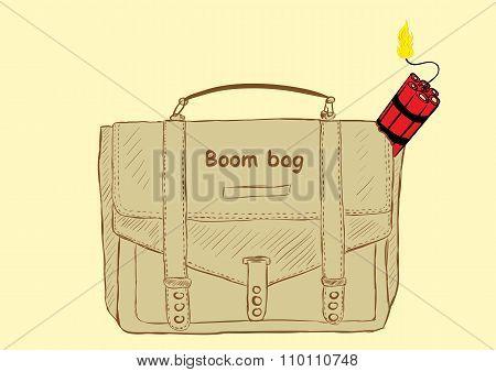 Boom bag with dynamite
