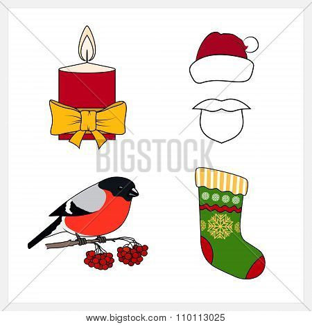 Set of Christmas Line Style Icons