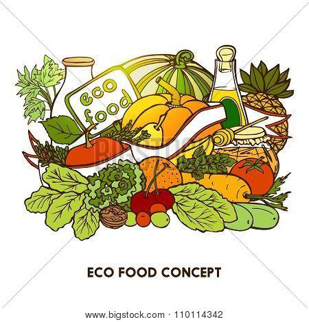 Hand Drawn Eco Food Concept