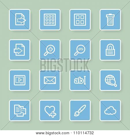 Image viewer web icons set