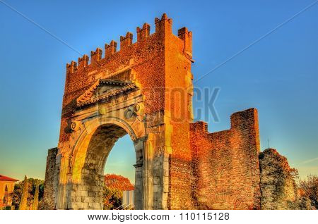 The Arch Of Augustus At Rimini - Italy