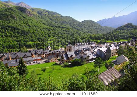 Panticosa Village High View Slate Roofs Pyrenees