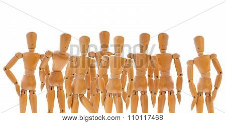 Group Of Wooden Dummies