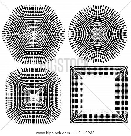 Halftone Pattern. Set Dots.