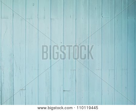 Old Blue Wood Wall