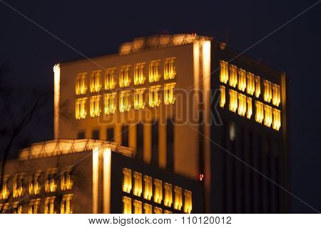 Blurred Photo Of The Building