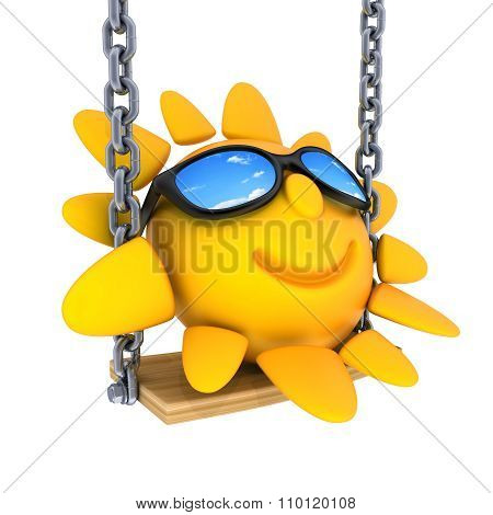 Abstract Sun And Swing