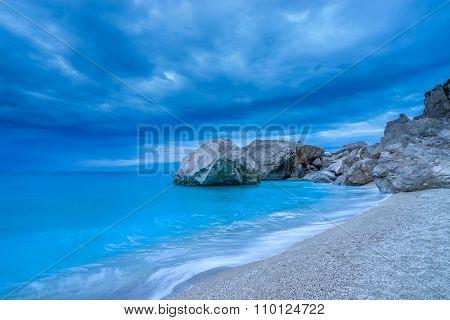 The famous Kathisma beach in Lefkada Greece