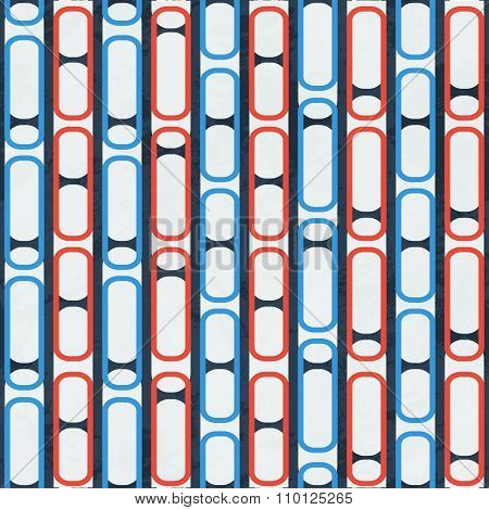 Blue Chain Seamless Pattern.