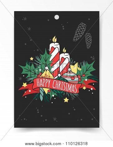 Christmas greeting card illustration