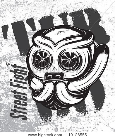 Illustration Of Street Fight Titanium Bulldog With Turbo