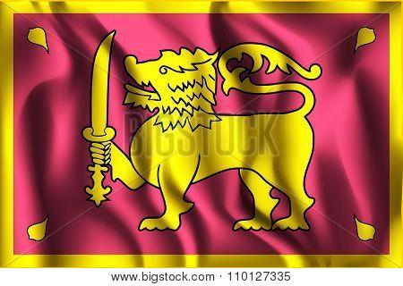 Sri Lanka Variant Flag. Rectangular Shape Icon