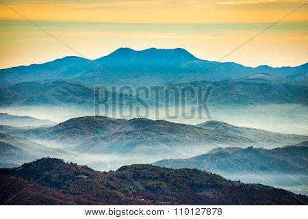 Range Of Blue Mountains