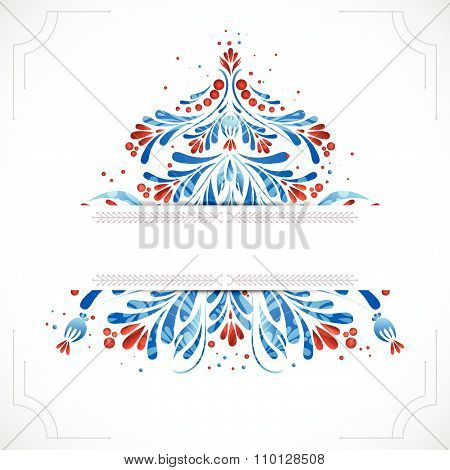 Greeting christmas card. Vector illustration