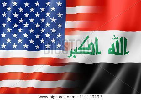 Usa And Iraq Flag