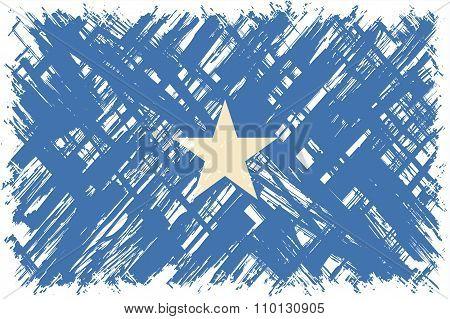 Somalian grunge flag. Vector illustration.